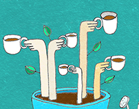 Coffee Illustration: Green Plantation (Sep-Nov) 2016