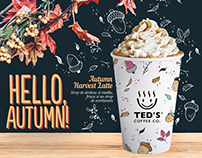 Poster designs for Ted's Coffee Co.
