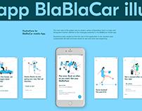Illustration for BlaBlaCar App