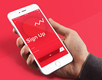 Free Flat Sign Up UI Design