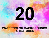 20+ Best Colorful Watercolor Textures & Backgrounds
