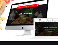 Pizza Builder- Online Pizza Making Restaurant PSD