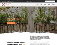 UI/UX desig for Hang 'N Grow website + webshop