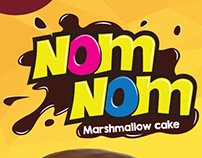NOM-NOM Marshmallow cake // Packaging Design