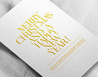 TYPOGRAPHIC CHRISTMAS GREETINGS