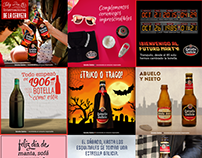 Social media graphics for Estrella Galicia