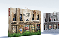 Package design in 3d for Thisted Brewery