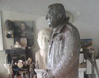 Setting monument Milenko Rudinac in public space