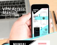 Manual developed for mobile.