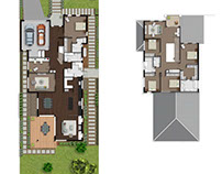 Real Estate Floor Plans Full Color Houses