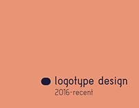 LOGOTYPE design 2016-recent