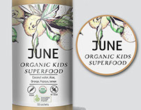 Eco Label Design for an upscale organic superfood produ