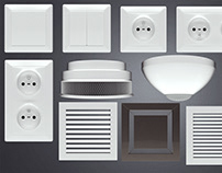 3d models of light switch and more