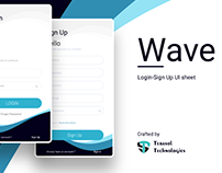 Wave - Login SignUp Ui - Freebee Adobe XD