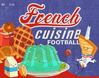 French cuisine football - 2D animation