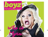 BOYZ Magazine - Graphic Design & Layout