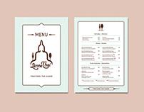 Branding + Menu design | Lanna Thai Restaurant
