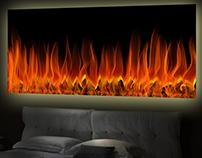 fineArt No. 1 - Wandbild fireplace