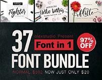 FONT BUNDLE 37 awesome font