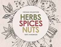 Herbs • Spices • Nuts – labels