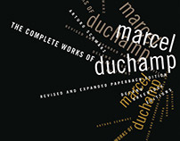 "Cover design for ""The complete works of Marcel Duchamp"""