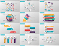 30+ three dimensional charts PowerPoint template