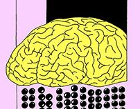 Brain, eyeball, screw and human