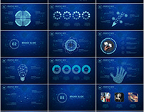 Best Blue annual report PowerPoint template