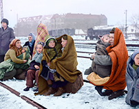 Photo Colorization: German Refugees.