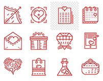 Free icon - Valentine's day (video process)