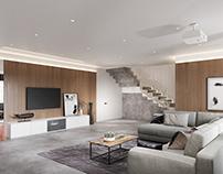 Concrete apartment+VR Panorama
