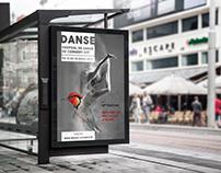 Création d'une affiche pour un festival de danse fictif