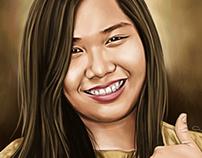 Pretty Girl Digital Painting