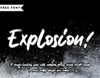 EXCLUSIVE FREEBIE | Explosion Strong Brush Font