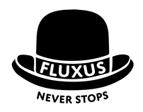 T-shirt Design: Fluxus Never Stops