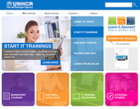 UNHCR Trainings - Learn and Connect UI