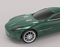 Surface model of Aston Martin- One 77
