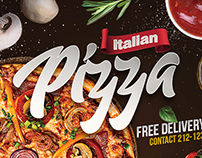 Pizza Restaurant Flyer + Instagram