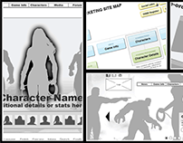 Injustice: Gods Among Us Site Wireframe