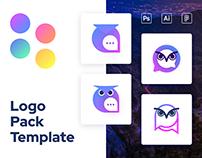 Schoowl – Minimal Colorful Owl Logo Template