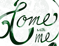 Come with me Lettering