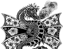 DRAGON WAWEL / T-shirt illustration
