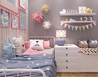 Little Girl Zone /дизайн-проект детской/