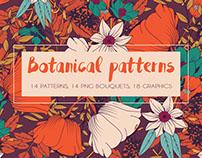 Botanical patterns and graphics