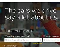 Rent a cab website