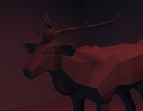 Low-Poly Deer Sculpt