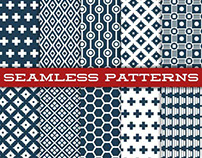 Vector pack of 10 seamless pattern.
