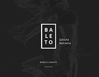 Dance school. Website concept