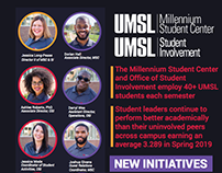 UMSL Office of Student Involvement Collateral Pieces