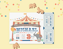 Children's Party Invitation   Circus Theme